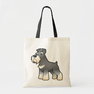 Cartoon Giant/Standard/Miniature Schnauzer Tote Bag