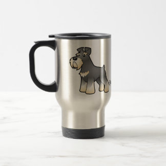Cartoon Giant/Standard/Miniature Schnauzer Travel Mug