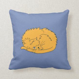 Cartoon Ginger Cat curled up