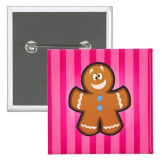 cartoon gingerbread man Square Button