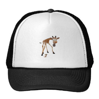 Cartoon Giraffe and Mouse Cap