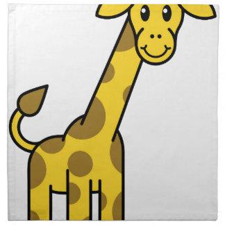 Cartoon Giraffe Animal Napkin