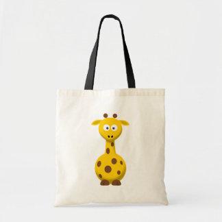 Cartoon Giraffe Canvas Bags