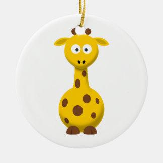 Cartoon Giraffe Christmas Ornament