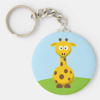 Cartoon Giraffe Key Ring