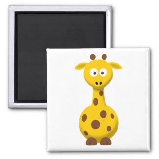Cartoon Giraffe Magnet