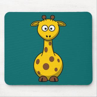 Cartoon Giraffe Mouse Mat