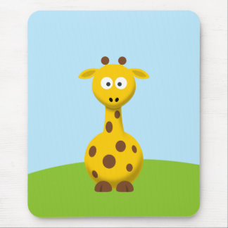 Cartoon Giraffe Mouse Pad