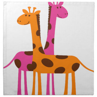 Cartoon Giraffe Napkin