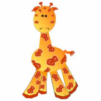 Cartoon Giraffe Ornament or Sculpture Standing Photo Sculpture