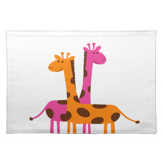 Cartoon Giraffe Placemat
