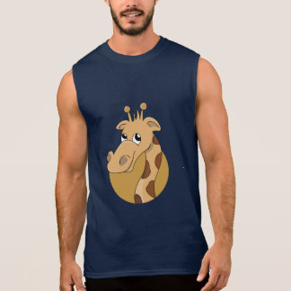 Cartoon giraffe sleeveless shirt