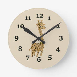 Cartoon Giraffe Wallclock