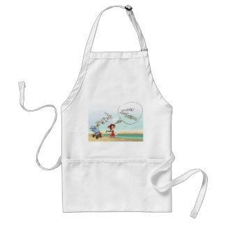 cartoon girl of fancy land apron