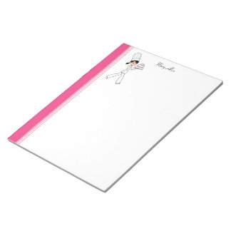 Cartoon Girl Recipe Notepad
