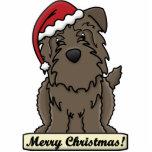 Cartoon Glen of Imaal Terrier Christmas Ornament Photo Sculptures
