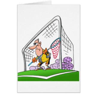Cartoon Goalkeeper Note Cards