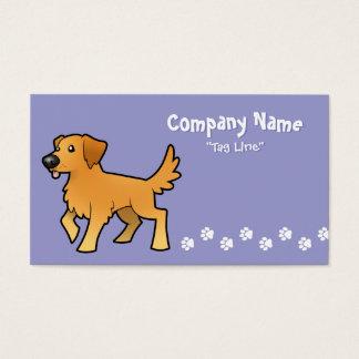 Cartoon Golden Retriever Business Card
