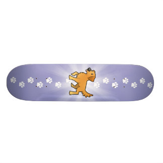 Cartoon Golden Retriever Skateboard Decks