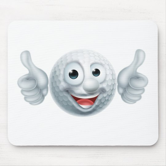 Cartoon Golf Ball Character Mouse Mat