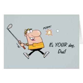 Cartoon Golf Father s Day Card
