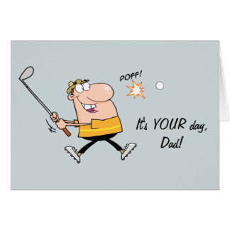 Cartoon Golf Father's Day Card
