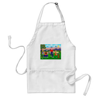 Cartoon Golfers - For the Love of Golf Apron