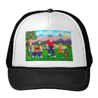 Cartoon Golfers - For the Love of Golf Trucker Hat