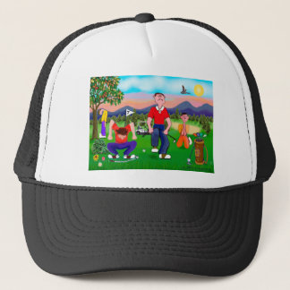 Cartoon Golfers - For the Love of Golf Trucker Hat