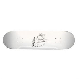 Cartoon Gorilla Holding a Banana Skateboard Deck