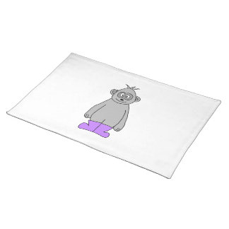 Cartoon Gorilla in Purple Boots. Placemat