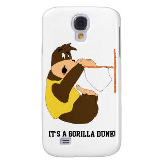 Cartoon Gorilla Slam Dunking Galaxy S4 Case