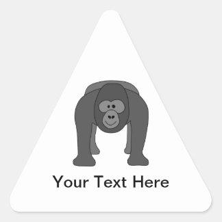 Cartoon Gorilla Triangle Sticker