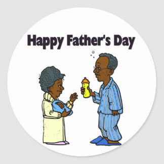 Cartoon Grandparents - Happy Father s Day Stickers