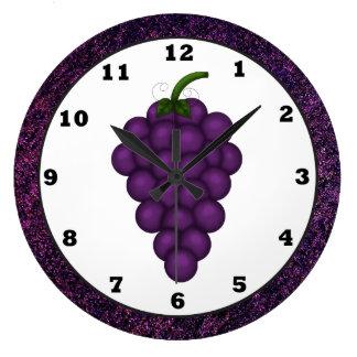 Cartoon Grape Kitchen Clock