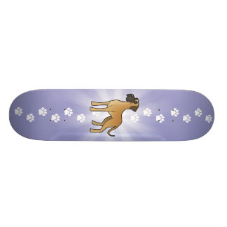 Cartoon Great Dane 19.7 Cm Skateboard Deck
