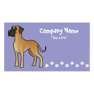 Cartoon Great Dane Business Cards