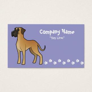 Cartoon Great Dane Business Card