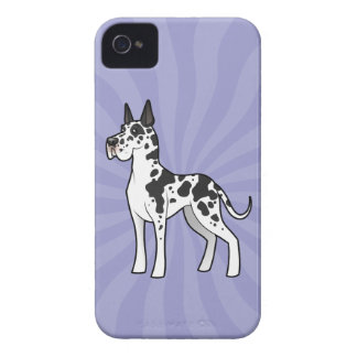 Cartoon Great Dane (cropped) iPhone 4 Covers