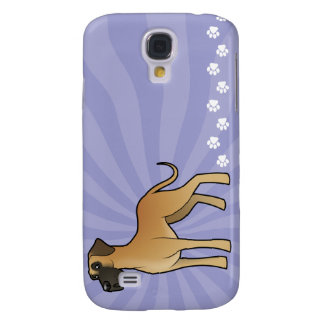 Cartoon Great Dane Galaxy S4 Case