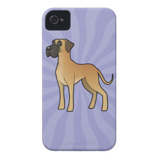 Cartoon Great Dane (natural) iPhone 4 Case-Mate Case