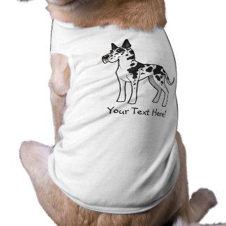 Cartoon Great Dane Sleeveless Dog Shirt