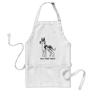 Cartoon Great Dane Standard Apron
