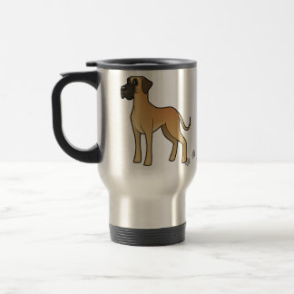 Cartoon Great Dane Travel Mug