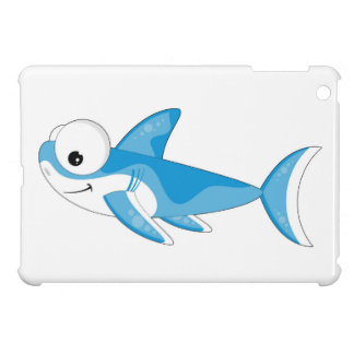 Cartoon Great White Shark Cover For The iPad Mini