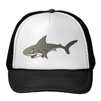 Cartoon Great White Shark Trucker Hats