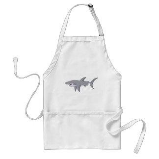 Cartoon Great White Shark Standard Apron