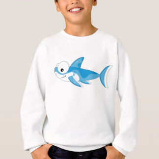 Cartoon Great White Shark Sweatshirt