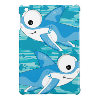 Cartoon Great White Sharks Cover For The iPad Mini