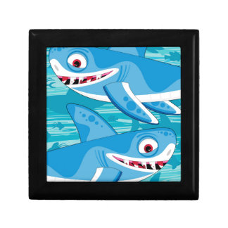 Cartoon Great White Sharks Gift Box